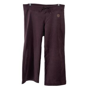 Lululemon Wide Leg Sweat Pants Purple Size 12